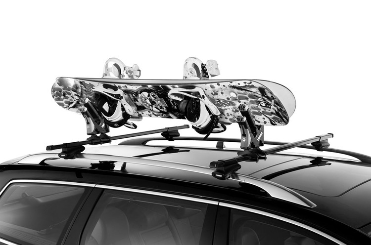 Universal snowboard carrier