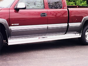 Extruded running boards