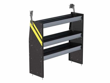 black steel van shelving